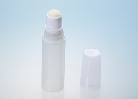 cosmetic tube with sponge applicator