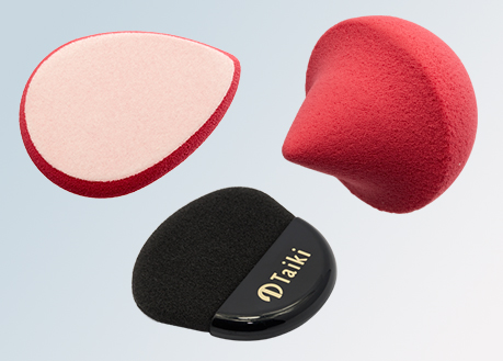 cosmetic sponges varying shapes