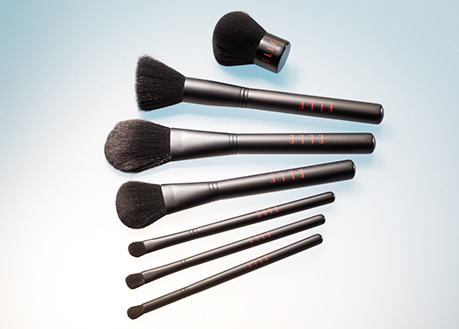 cosmetic brush collection all black